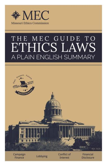 Cover of Missouri Guide to Ethics Laws
