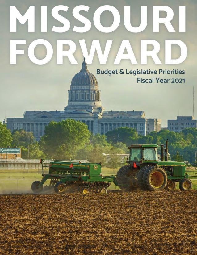 Cover Image of 2021 Missouri Budget and Legislative Priorities. Click to view.