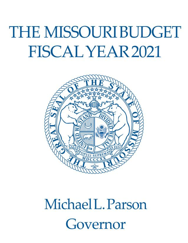 Missouri Budget cover