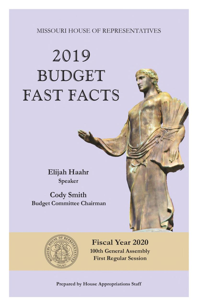cover image of 2019 Missouri Budget Fast Facts. Click to view more