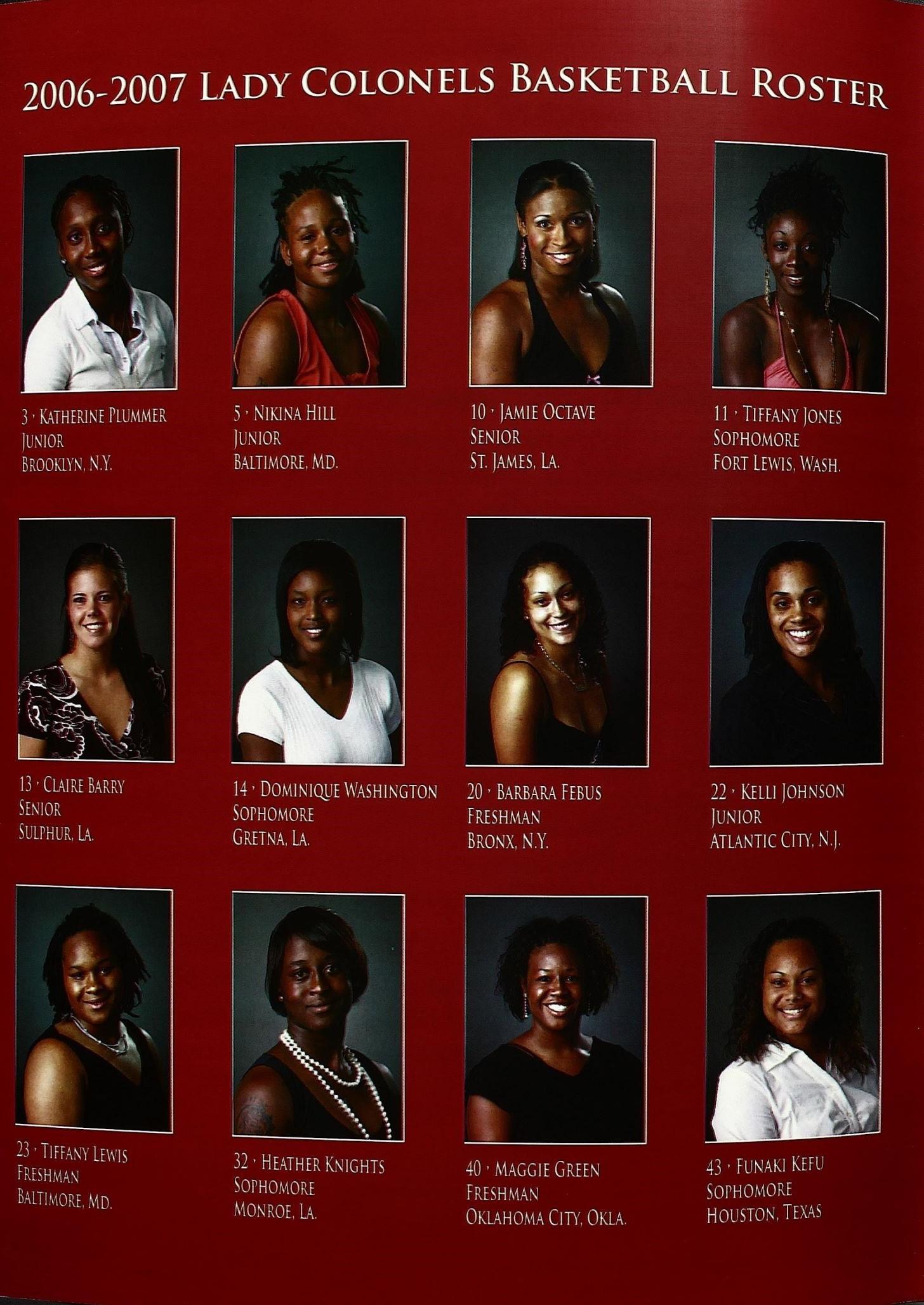2006-2007 Team Roster