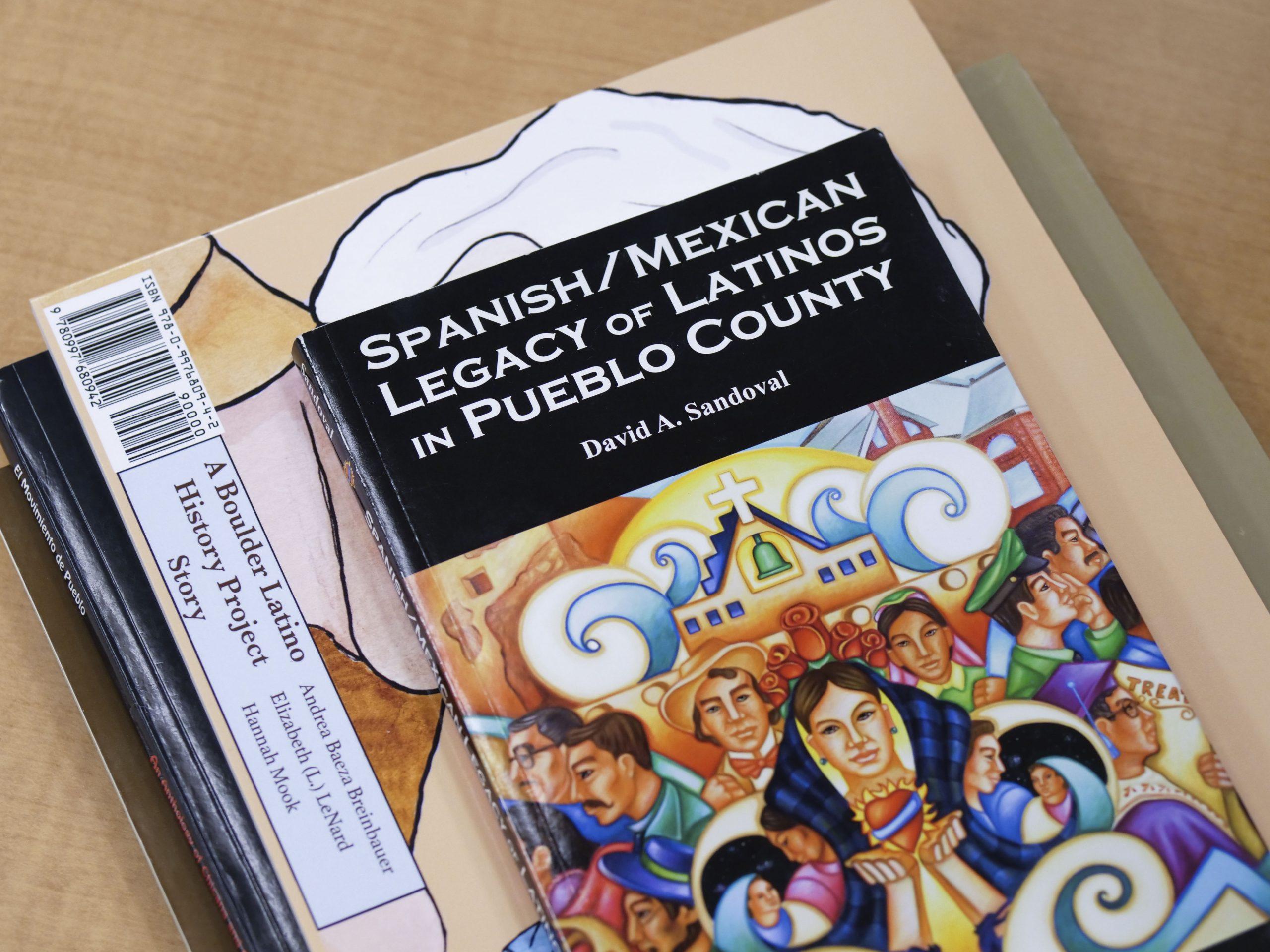 Books on Latino history.