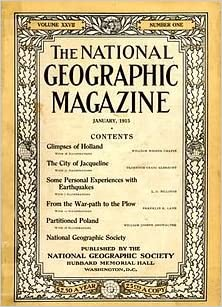 Cover of old issue of The National Geographic Magazine