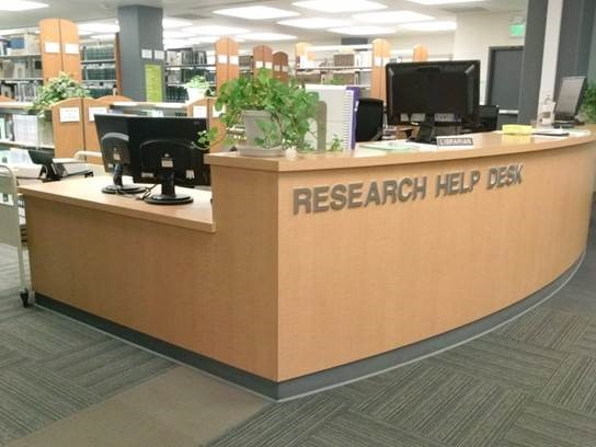 photo of research help desk
