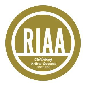gold RIAA logo