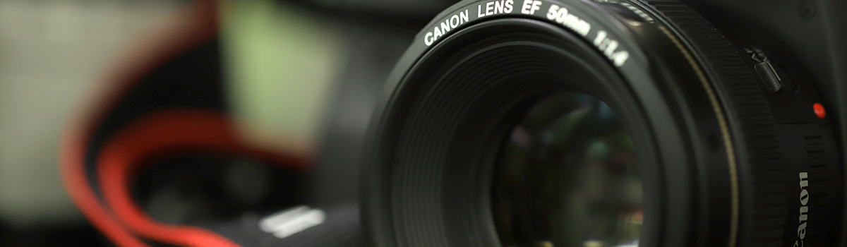 Close up of a Canon DSLR