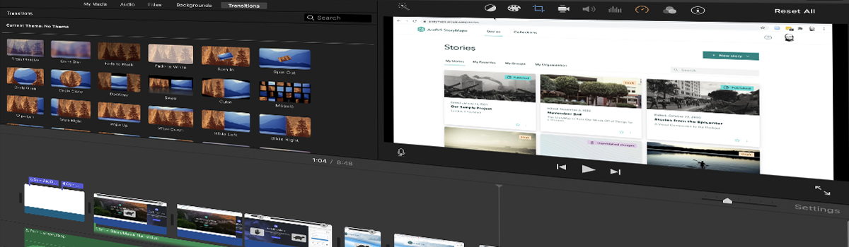 iMovie User Interface