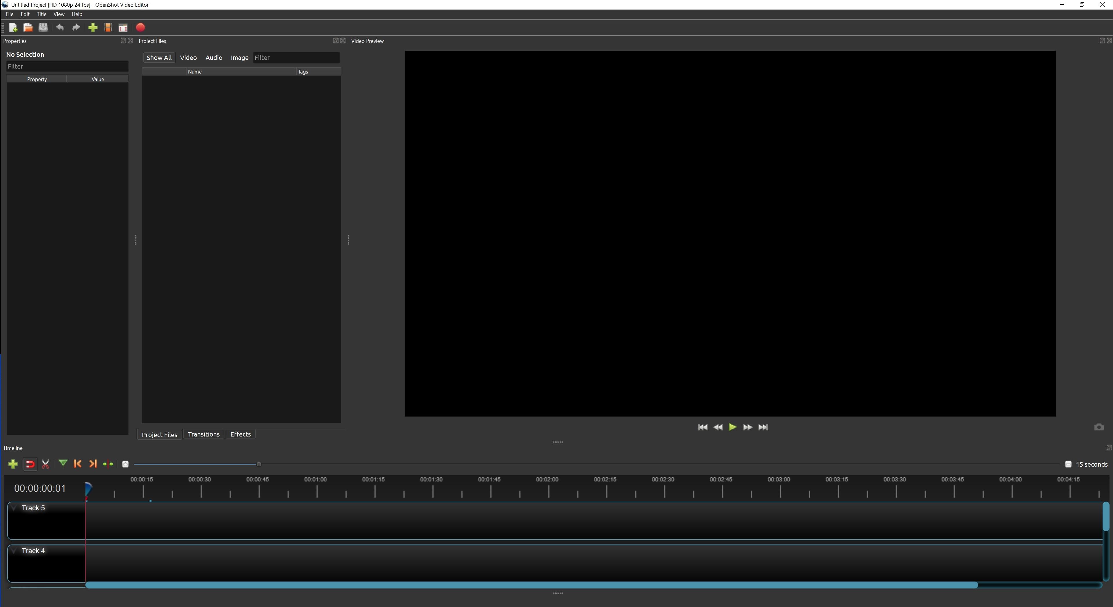 OpenShot UI