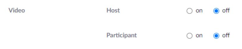 Zoom Host Settings