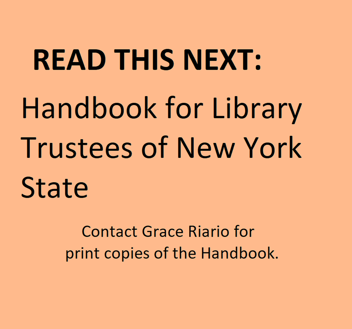 Handbook for library trustees of NY State
