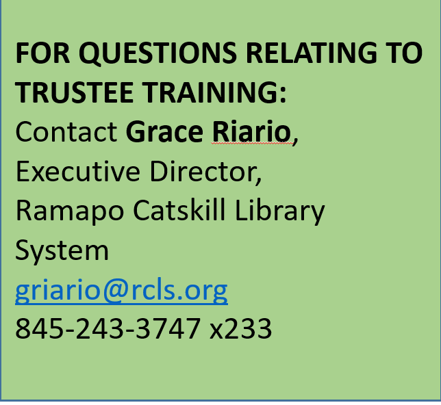 Contact Grace Riario for questions relating to trustee training.