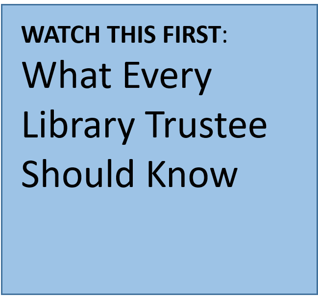 What this first. What every library trustee should