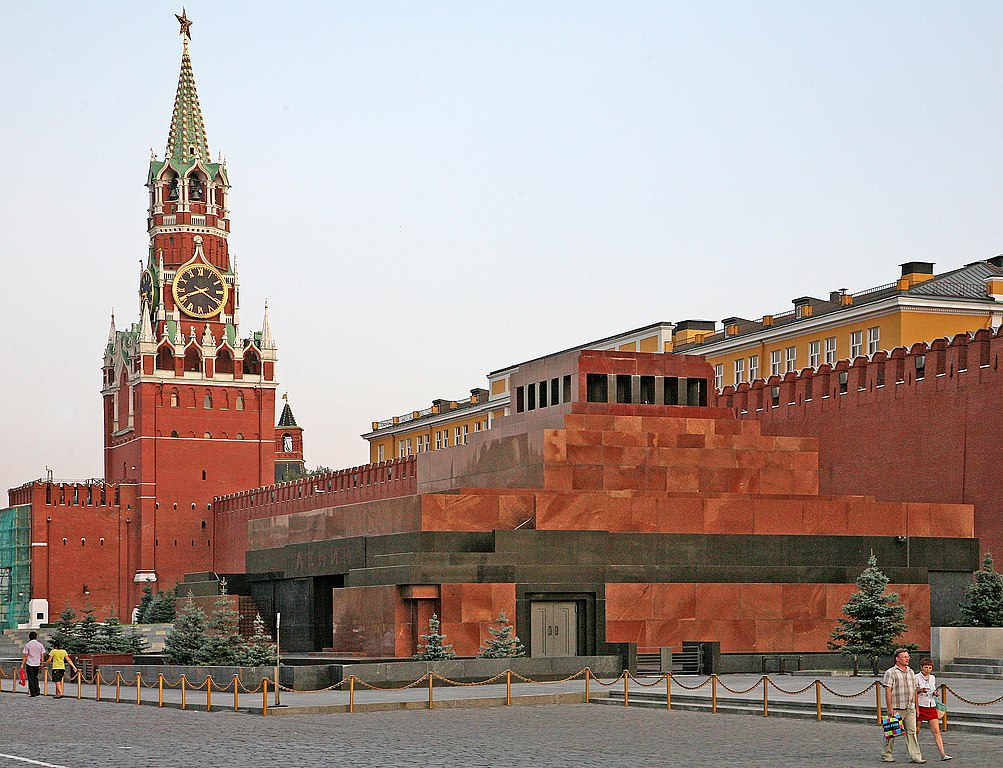 Lenin's mausoleum, Red Square, Moscow, Russia.