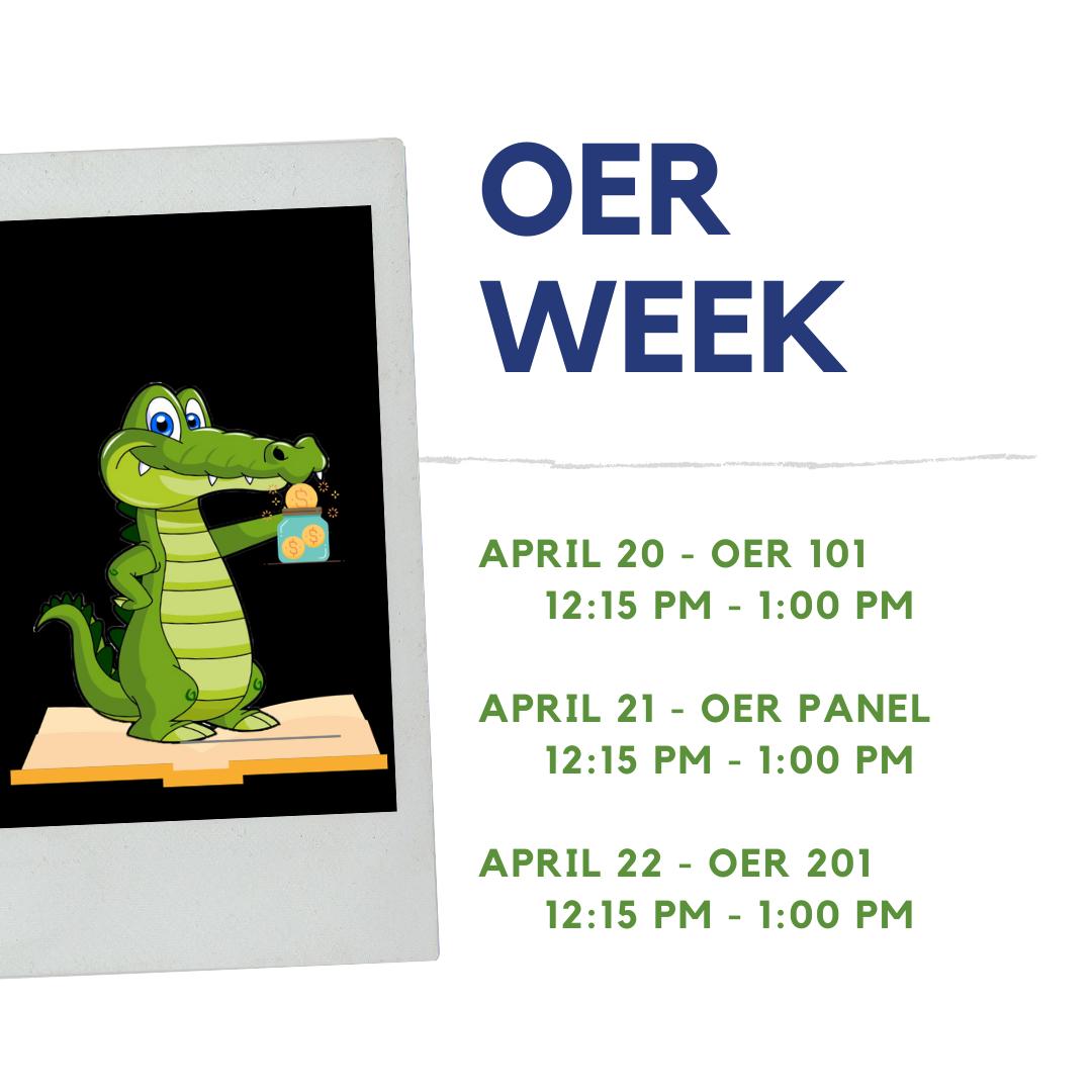 OER Week Agenda