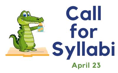 Call for Syllabi