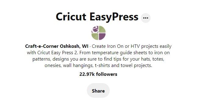 Pinterest ideas for Easy Press from Craft-e-corner