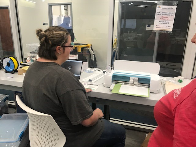 Maker working on the Cricut