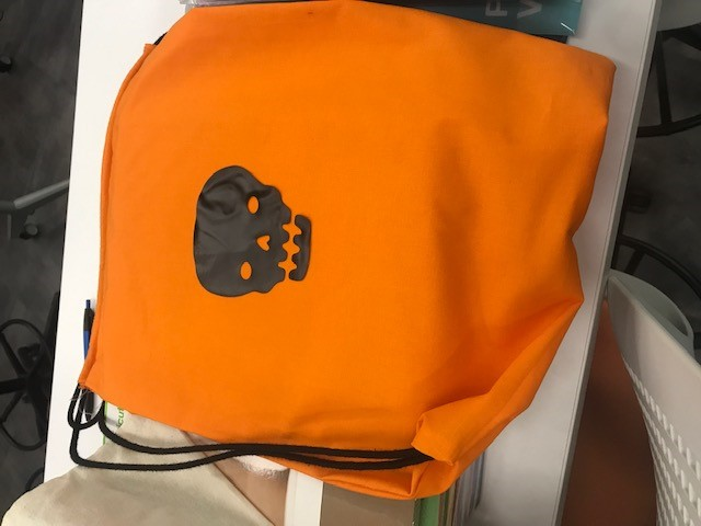 Summer camp 2021 Halloween bag project
