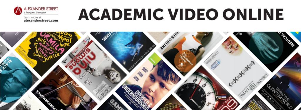 ProQuest Alexander Street Academic Video Online
