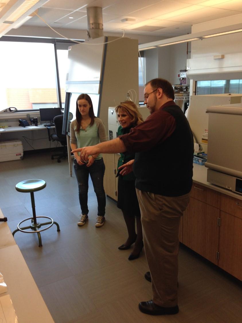 Andrew Garner in laboratory