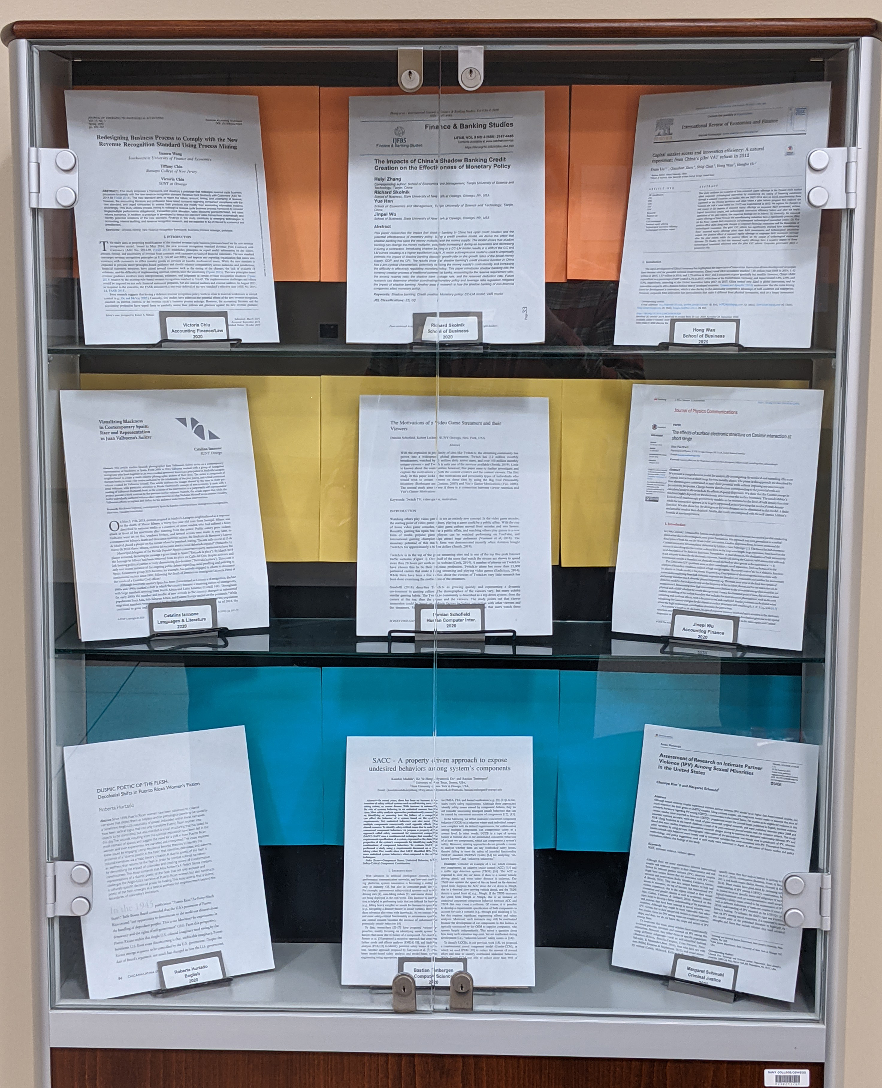 Display To Archives display case
