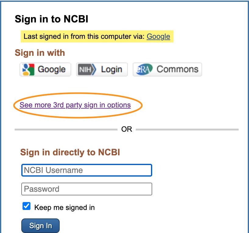NCBI sign in