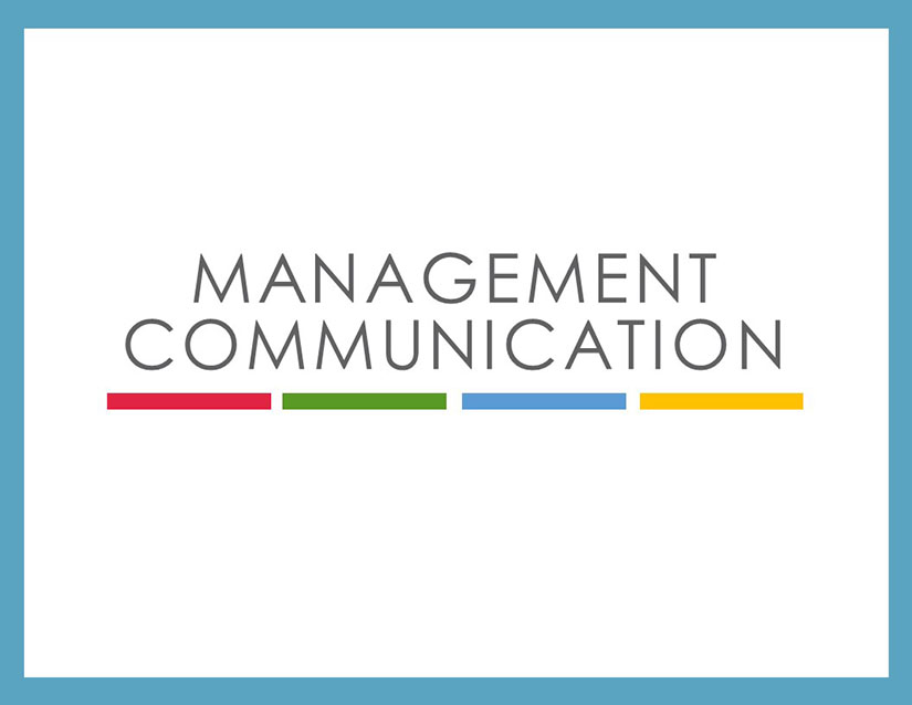 cover of management communication textbook