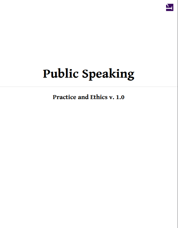 cover of public speaking practice and ethics