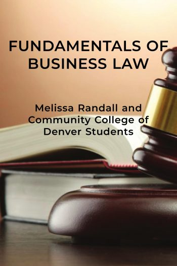 cover of fundamentals of business law textbook