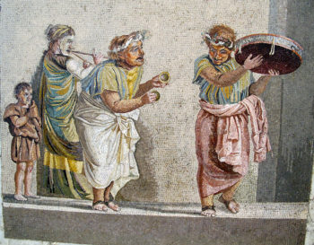 a small picture from a larger ancient roman artwork