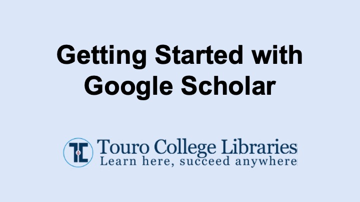getting started with google scholar tutorial thumbnail