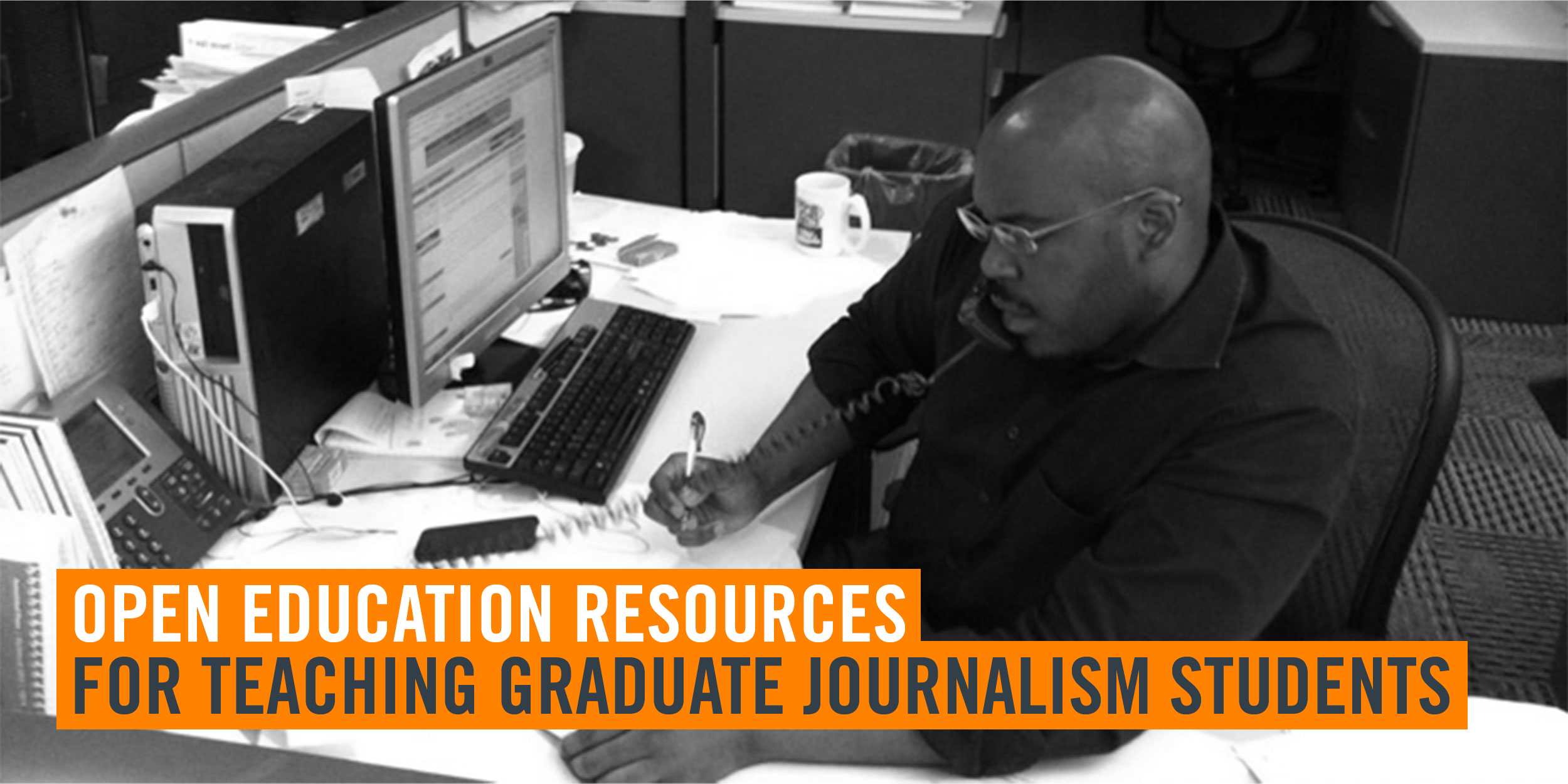 cover image for oer for teaching graduate journalism students