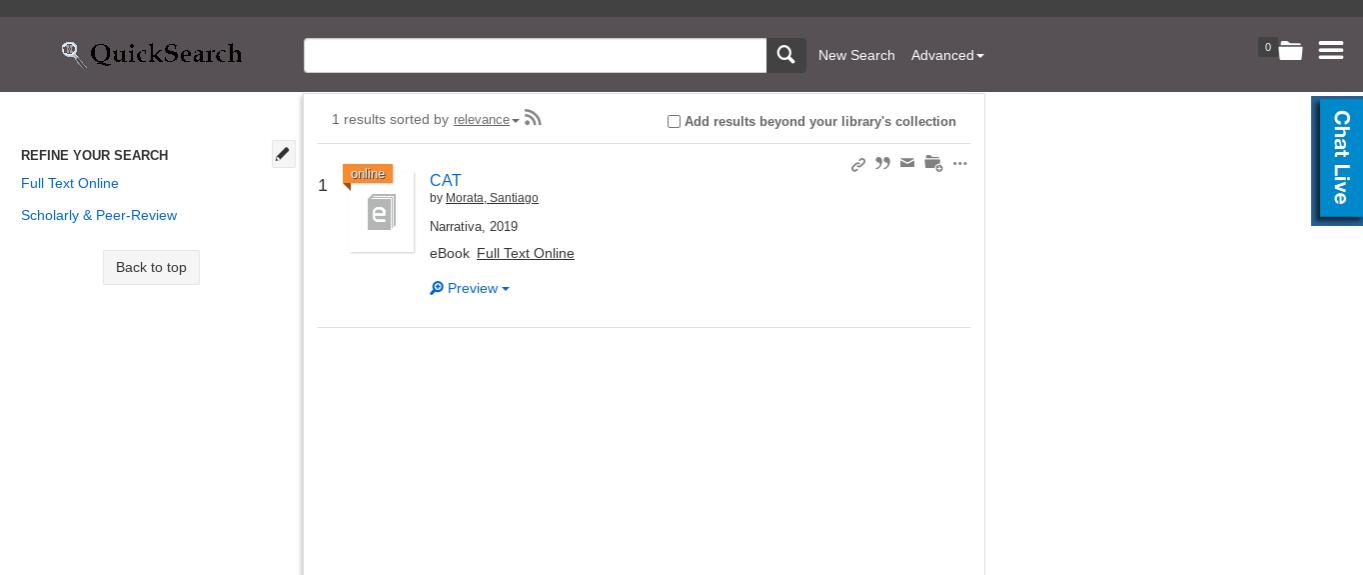 screenshot from libraries website