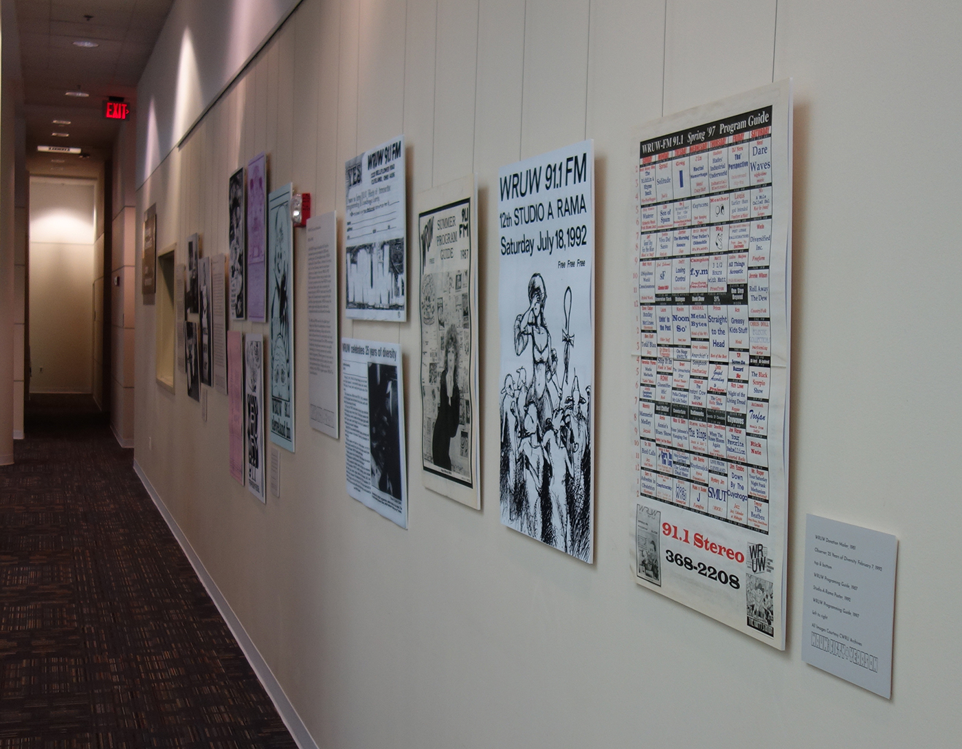 Image of exhibit phsically on view at Kelvin Smith Library.