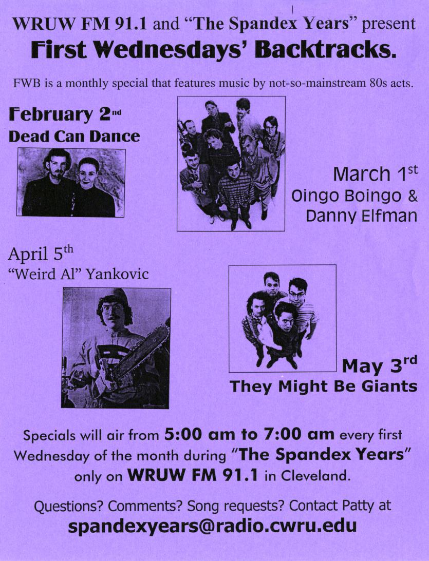Purple flyer promotion