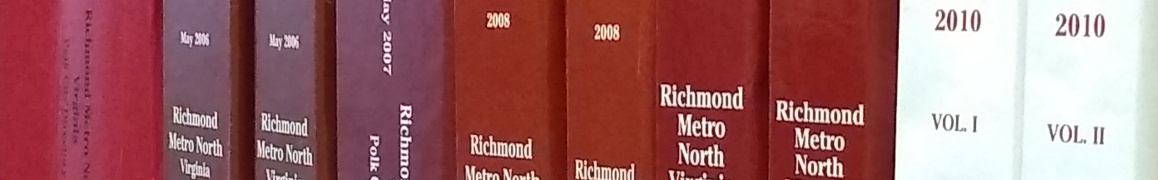 Richmond Virginia city directory spines