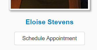Screenshot of the schedule appointment button on the column to your right.