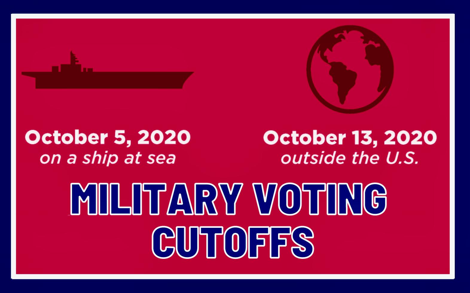 Military Voting Cutoffs!