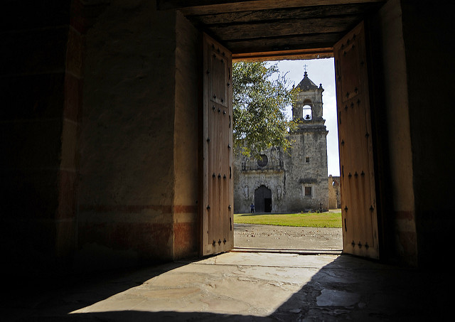 Flickr photograph entitled Opening Histories Door showing Mission San Jose
