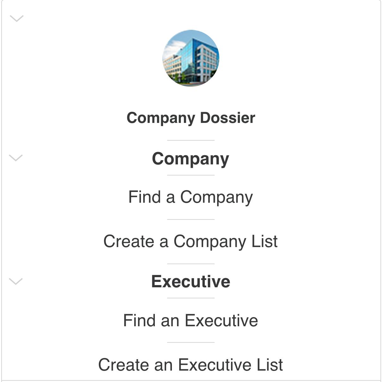 Nexis Uni Company Dossier box