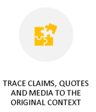 Trace Claims, Quotes, and Media move from the SIFT method