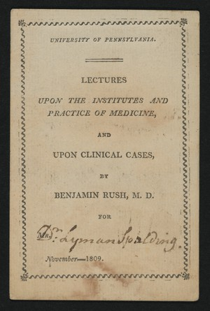 Rush's Lecture Ticket