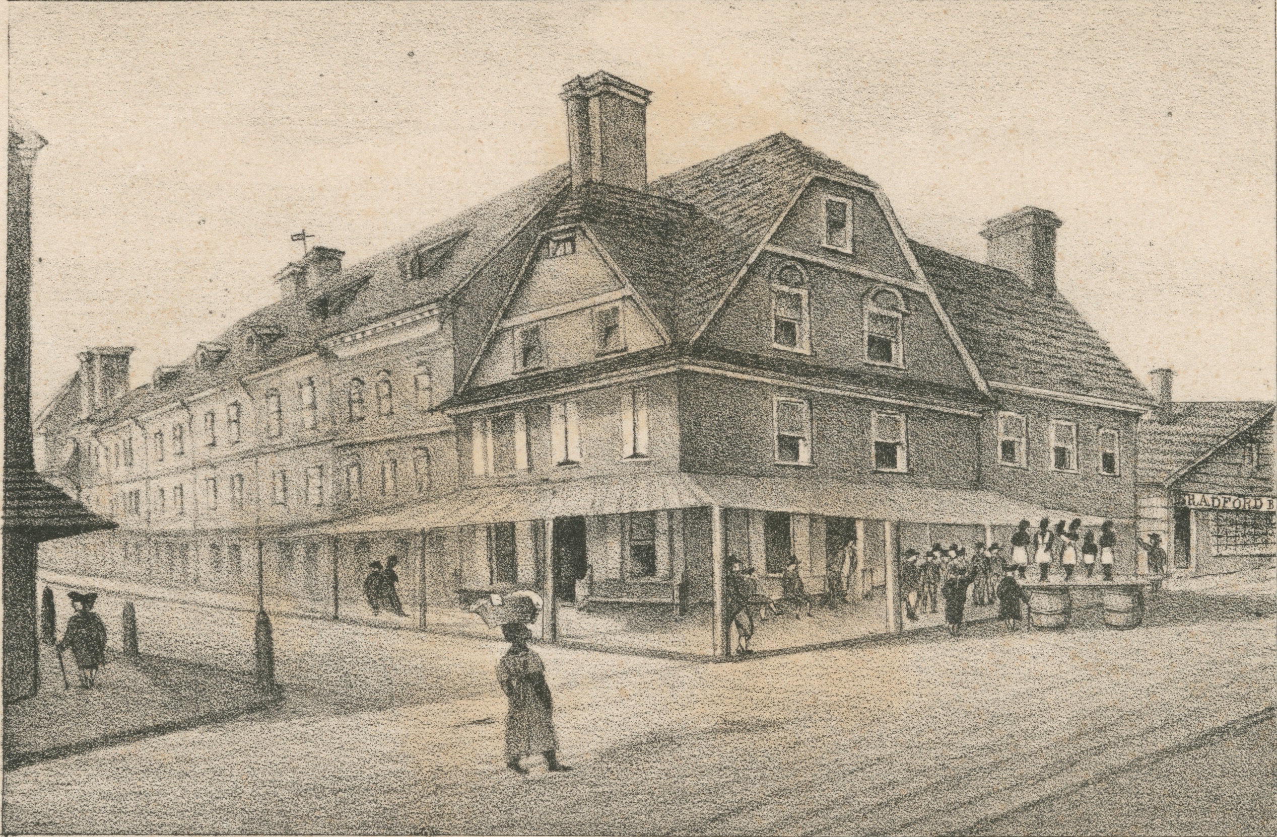 Drawing of the London Coffee House