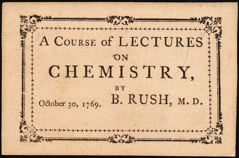 Rush's Chemistry Lecture Ticket