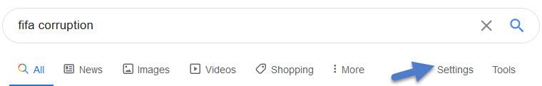 Change Google Search Settings