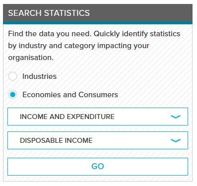 Search Statistics box in Passport