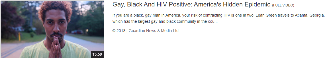 Gay Black and HIV Positive video thumbnail