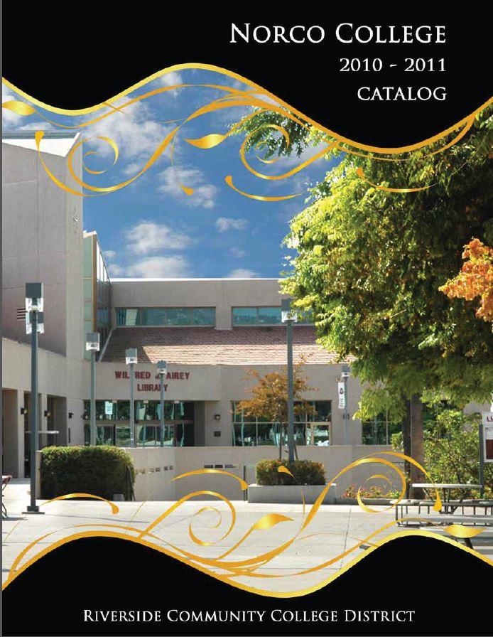 Norco College Catalog 2010-2011