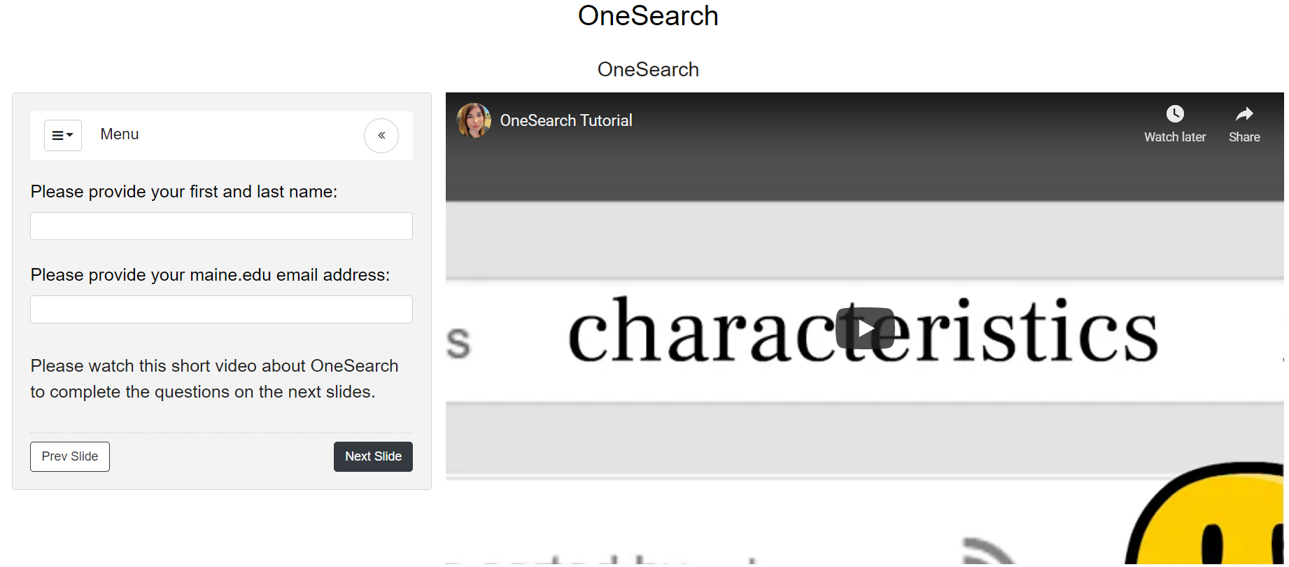 OneSearch Tutorial image