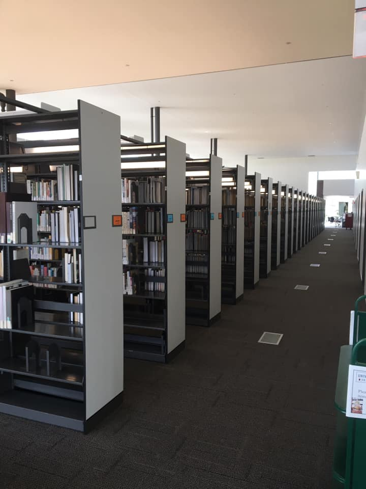 Book Stacks in Library